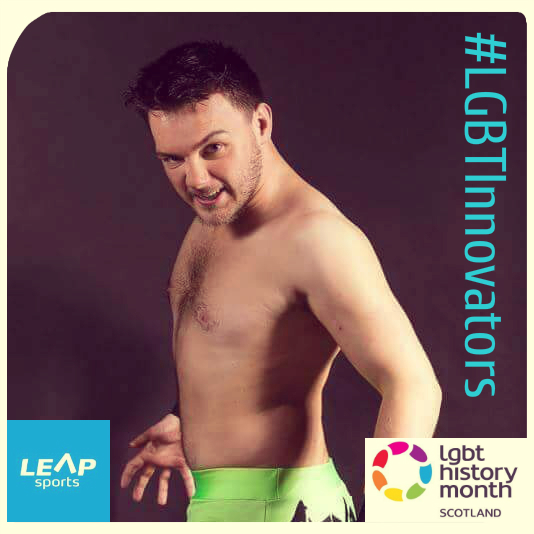 #LGBTInnovator - Scottish Wrestler  and LEAP Sports Patron Christopher Saynt