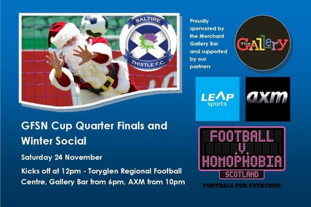 Saltire Thistle FC Host GFSN Quarter Finals