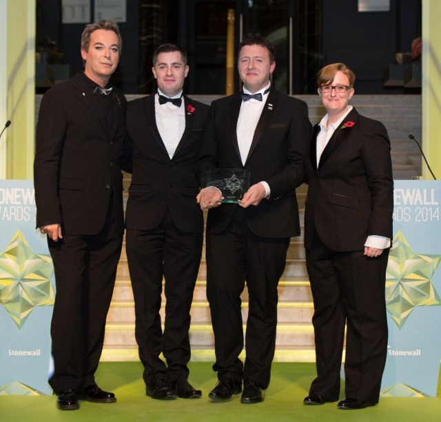 LEAP Sports Pride House Wins at Stonewall Awards   LEAP Sports Scotland