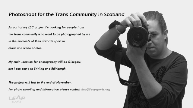 Photoshoot for the Trans Community in Scotland